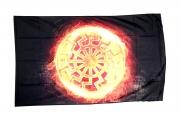 Schwarze Sonne II - Fahne 150x90 cm