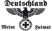 Deutschland - Meine Heimat - Fahne/Flagge weiss 150x90cm