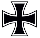 Eisernes Kreuz - 10 wasserfeste Aufkleber