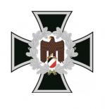 Eisernes Kreuz mit Reichsadler - 10 wasserfester Aufkleber