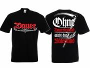 Bauer - Wir ackern für Deutschland - T-Shirt schwarz