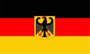 Deutschland mit Adler - Fahne 45x30cm