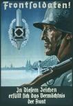 Deutsche Frontsoldaten ! - Blechschild