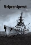 Schlachtschiff Scharnhorst III - Blechschild