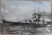 Schlachtschiff Gneisenau - Blechschild
