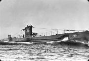 Deutsches U-Boot U-36 Typ VIIA - Blechschild