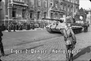 Tiger II - Panzerkampfwagen VI Königstiger der schweren Panzerabteilung 503 in Budapest, Oktober 1944 - Blechschild