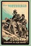 Das Motorrad - Zuverlässig an allen Fronten - Blechschild