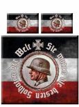 Deutsche Soldaten - Sie waren die besten Soldaten der Welt XXL mit 2 Kissen und XXL-Decke - Mikrofaser Bettwäsche