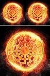 Es brennt die Schwarze Sonne - Schwarze Sonne XXL mit 2 Kissen und XXL-Decke - Bettwäsche