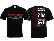 Zimmermann - Den Hammer in der Hand - T-Shirt schwarz