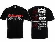 Schlosser - Die Schraube wird rechts gedreht - T-Shirt schwarz