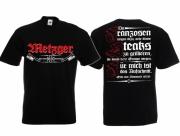 Metzger - Wir schlachten für Deutschland - T-Shirt schwarz