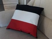 Schwarz-weiss-rot - Kissen 40x40 cm
