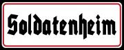 Soldatenheim - Blechschild