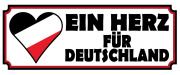 Ein Herz für Deutschland - Blechschild