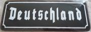 Deutschland - Blechschild