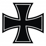 Eisernes Kreuz schwarz - Abziehbild 4x4cm