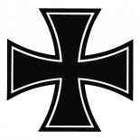 Eisernes Kreuz schwarz - Abziehbild 7x7cm