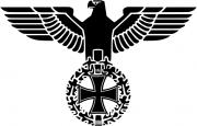 Reichsadler schwarz - Abziehbild 10x7cm transparent