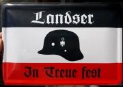 Landser - In Treue fest - Blechschild