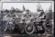 Wehrmacht Kradfahrer - Blechschild