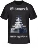 Schlachtschiff Bismarck unvergessen T-Shirt