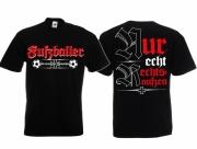 Fußballer - Rechtsaußen! - T-Shirt schwarz