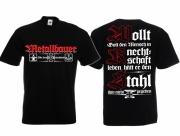 Metallbauer - Wir formen Deutschland - T-Shirt schwarz