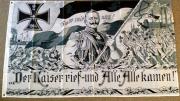 Fahne / Flagge Deutsches Reich Kaiser Wilhelm II Der Kaiser rief und alle kamen 90 x 150 cm