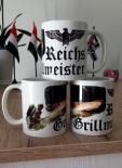 3x Reichsgrillmeister - Tasse(Rundumdruck)