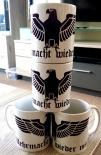 Reichsadler: Wehrmacht wieder mit? - 4 Tassen(Rundumdruck)