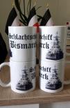 Schlachtschiff Bismarck - 4 Tassen(Rundumdruck)