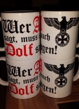Wer A sagt, muss auch DOLF sagen! - 4 Tassen(Rundumdruck)