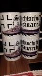 Schlachtschiff Bismarck+Balkenkreuz - 4 Tassen(Rundumdruck)