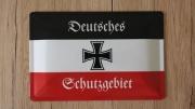 Deutsches Schutzgebiet Deutsches Reich - Blechschild