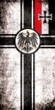 Reichskriegsflagge II - Tuch 50 x 24,5cm