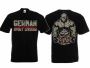 Division German Sport Pumper - T-Shirt schwarz