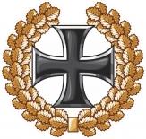 Eisernes Kreuz im Ehrenkranz - Aufkleber(wasserfest)