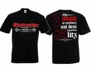 Elektroniker - Die Jungs in schwarz mit dem doppelten Blitz - T-Shirt schwarz