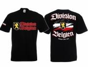 Belgien Division - T-Shirt schwarz
