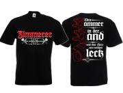 Zimmerer - Wir hobeln für Deutschland - T-Shirt schwarz