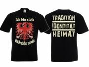 Stolzer Deutscher - T-Shirt schwarz