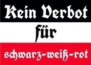 Kein Verbot für Schwarz/Weiss/Rot - Aufkleber