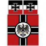 Deutsches Kaiser-Reich XXL mit 2 Kissen und XXL-Decke - Bettwäsche
