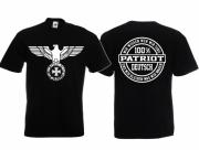 Reichsadler 100% Patriot - T-Shirt schwarz
