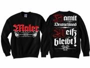 Maler - Wir streichen für Deutschland - Pullover schwarz