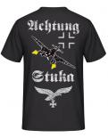 Achtung Stuka Rücken T-Shirt