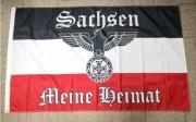 Reichsadler SWR Sachsen - Meine Heimat - Fahne 150x90cm