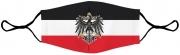 Schwarz/Weiß/Rot - Preussen Adler - Maske
